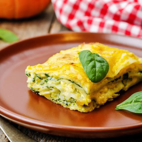 Vegetarian Spinach Pumpkin Lasagna