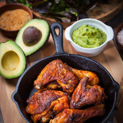 Smokey Chicken with Avocado Sauce