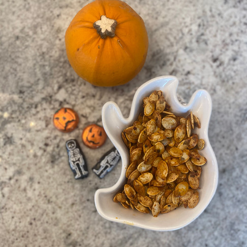Spicy Roasted Pumpkin Seeds