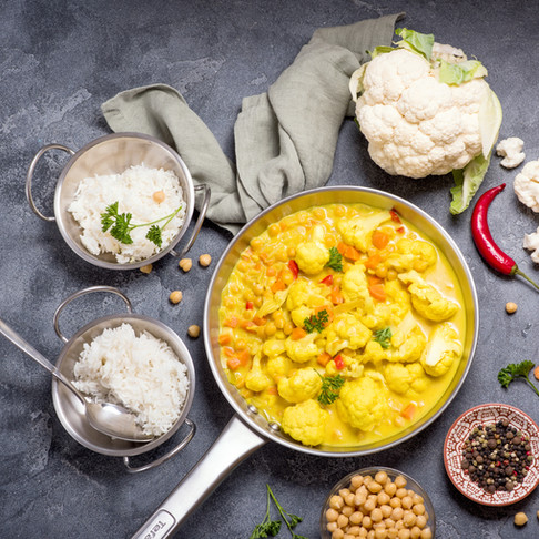Cauliflower and Chickpea Masala