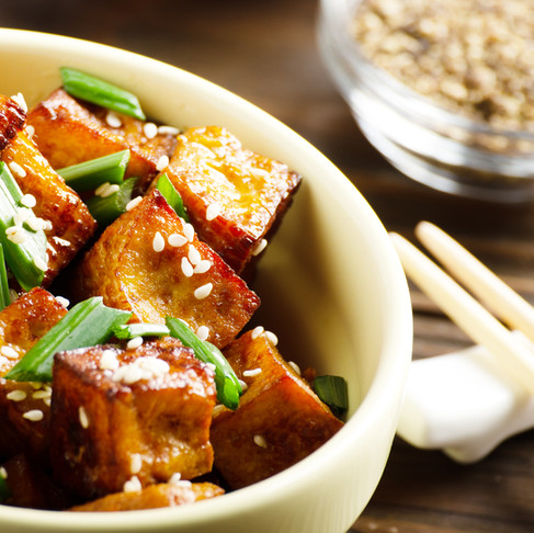 Sesame Tofu Quinoa Bowl