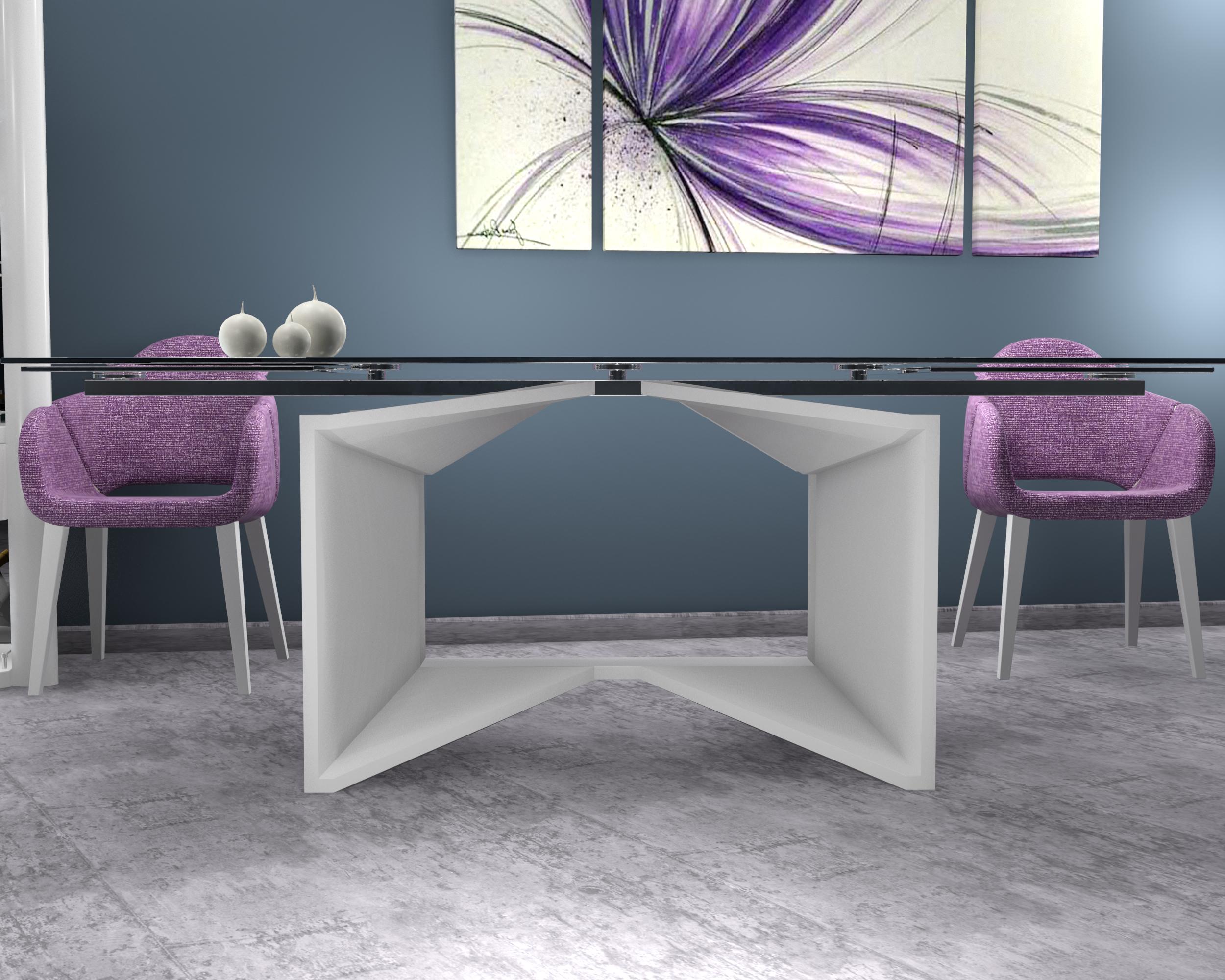particolare tavolo cristallo