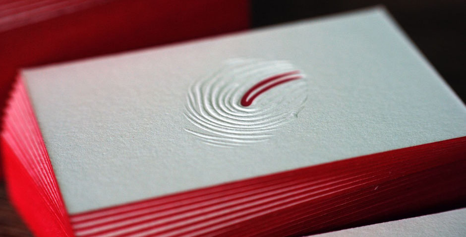Letterpress & Farbschnitt Visitenkarten