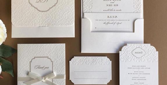 Hochzeitseinladung dreiteilig (StD, Einladungskarte, Dankeskarte)