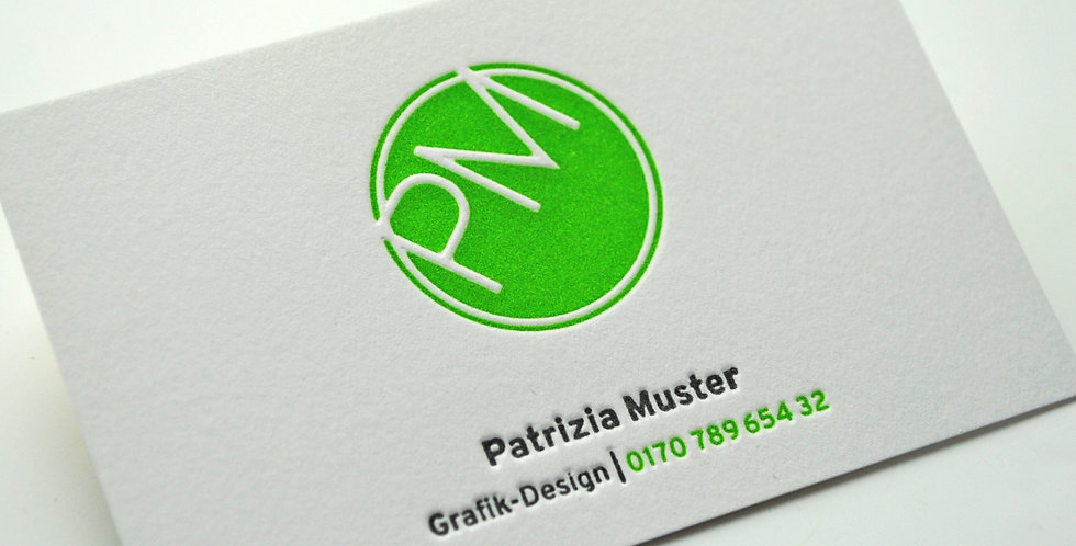 Letterpress Visitenkarten zwei Farben