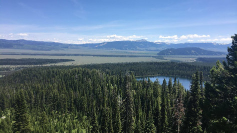 Hike up to South Teton