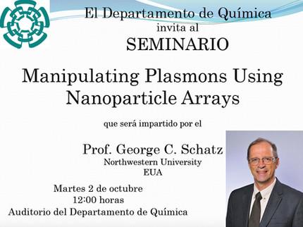 Invitación al seminario del Profesor George C. Schatz
