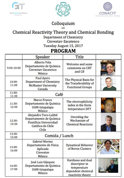 Colloquium  on Chemical Reactivity Theory and Chemical Bonding (Evento de la Red)