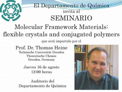 Invitación al seminario del profesor Thomas Heine en Cinvestav