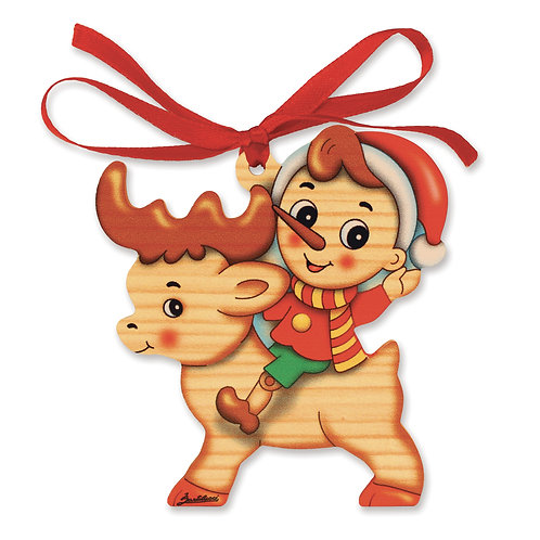 Pinocchio Kerstmis ornament - Rendier