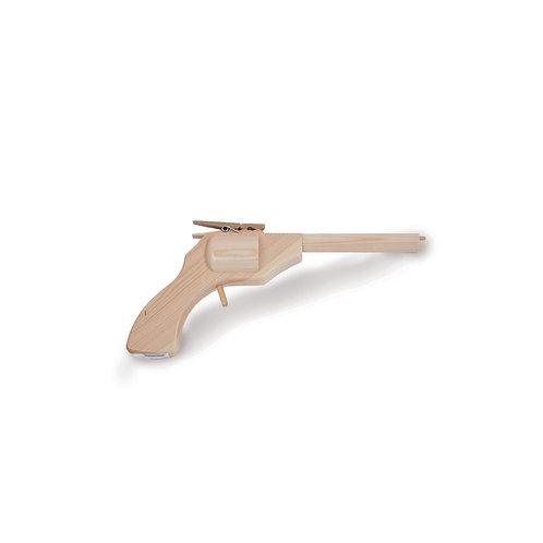 Houten speelgoed pistool