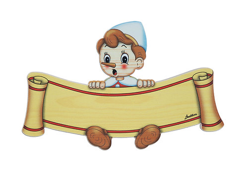 "Naambordje klein ""Pinokkio"""