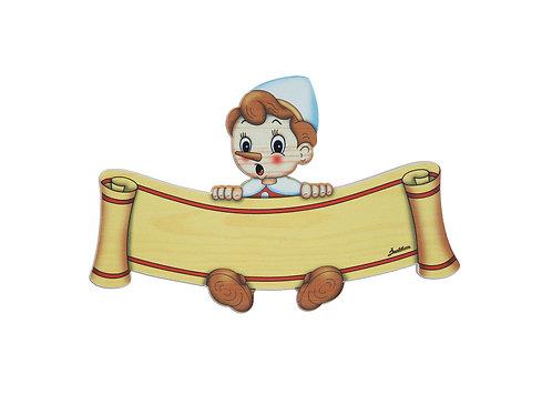 """Naambordje groot """"Pinokkio"""""""