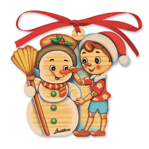 Pinocchio Kerstmis ornament - Sneeuwpop