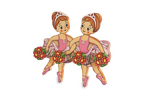 Kapstok 2 ballerina's