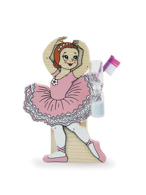 "Tandenborstelhouder met zandloper ""Ballerina"""