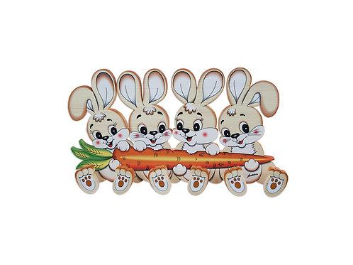 Kapstok 4 konijnen