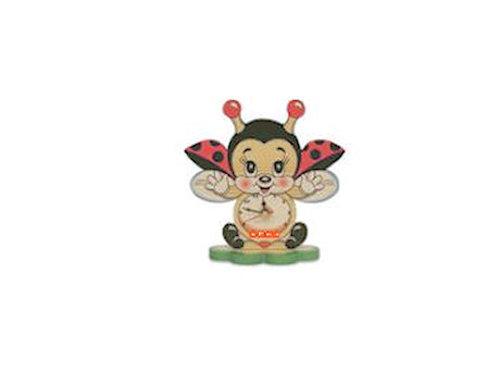 Kleine tafelklok vliegend lieveheersbeestje