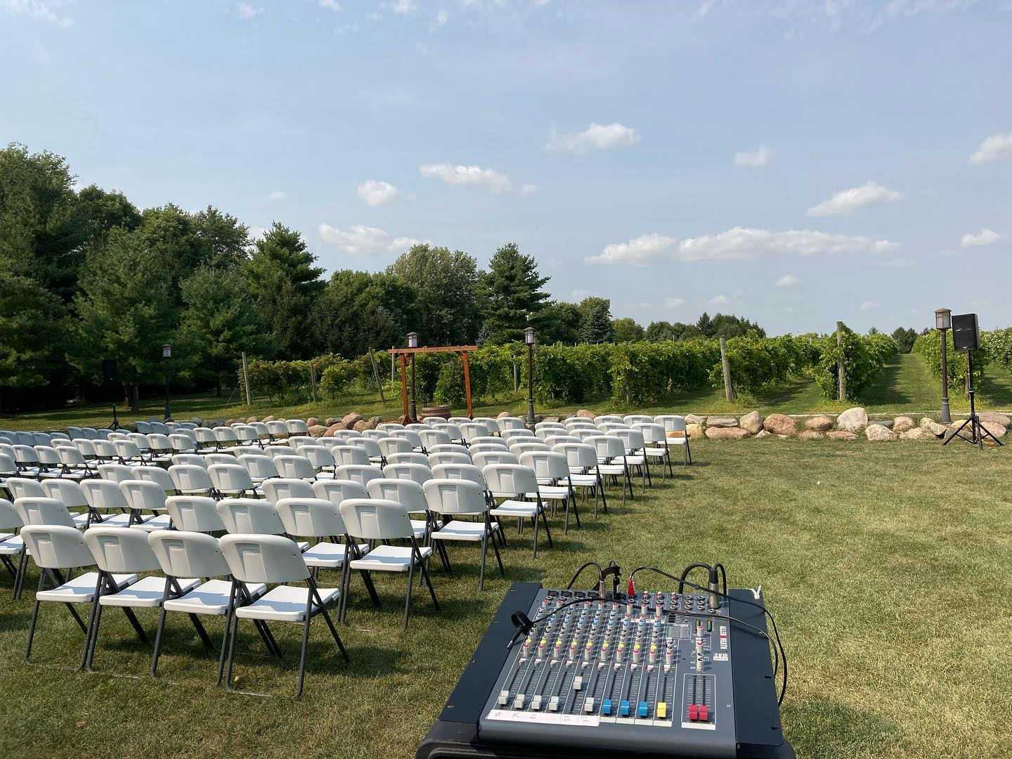 Our staff attentively mixes your wedding, so everyone can hear