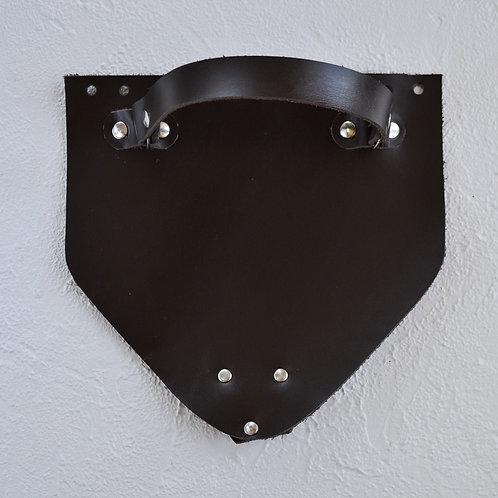 Кожаный клапан треугольный (тёмно-коричневый)