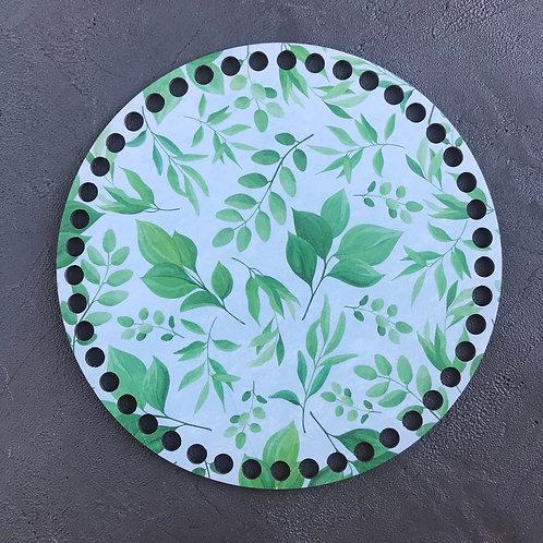 Крышка для корзины 20см Веточки и листья