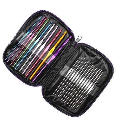 Набор крючков с каучуковой ручкой от 0,5мм до 6,5мм (22шт)