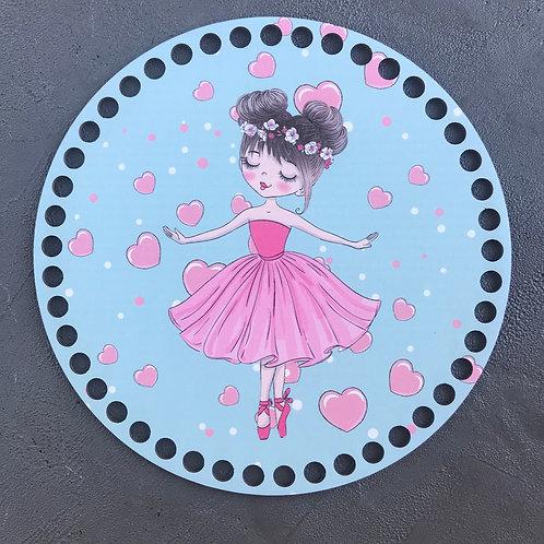 Крышка для корзины 20см Девушка балерина