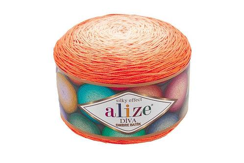 Alize DIVA OMBRE batik 7413 оранжевый/персик