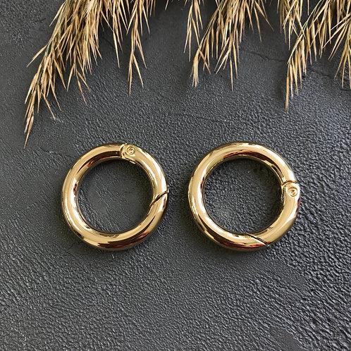Кольцо-карабин золото