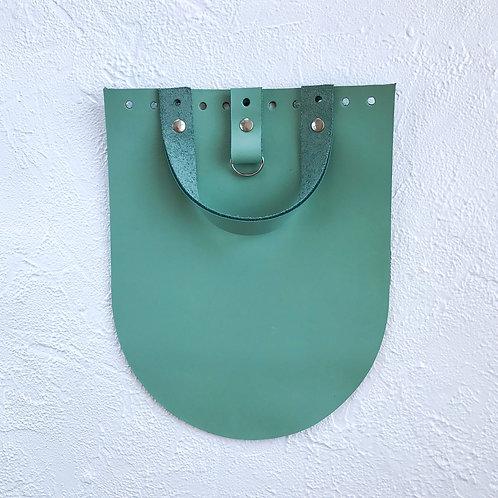 Кожаный клапан для рюкзака (мятный)