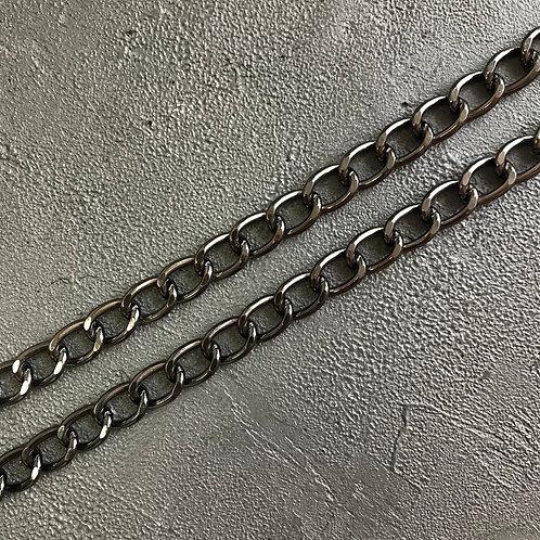 Цепь стальная тёмный никель