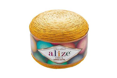 Alize DIVA OMBRE batik 7413 горчица