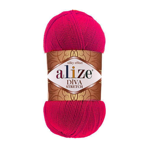 Alize DIVA Stretch 396 малиновый