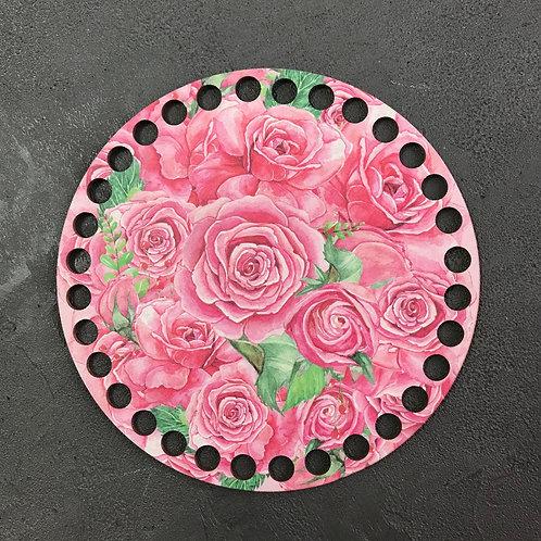 Крышка для корзины 15см крупные розы