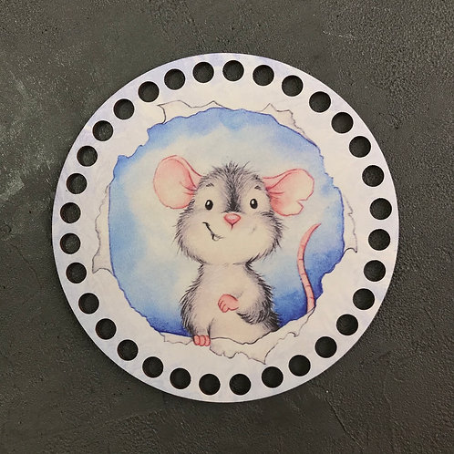 Крышка для корзины 15см  мышонок
