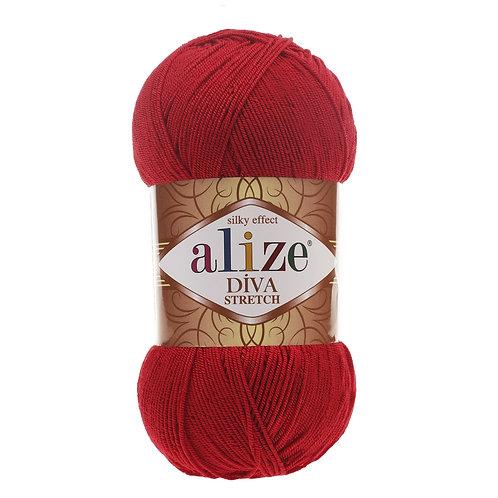 Alize DIVA Stretch 106 красный