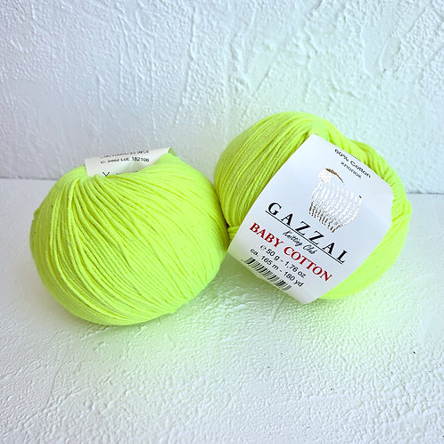 Gazzal Baby Cotton 3462 (кислотный жёлтый)
