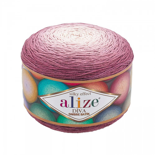 Alize DIVA OMBRE batik 7377 пыльная роза