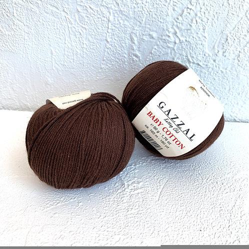 Gazzal Baby Cotton 3436 (тёмно-коричневый)
