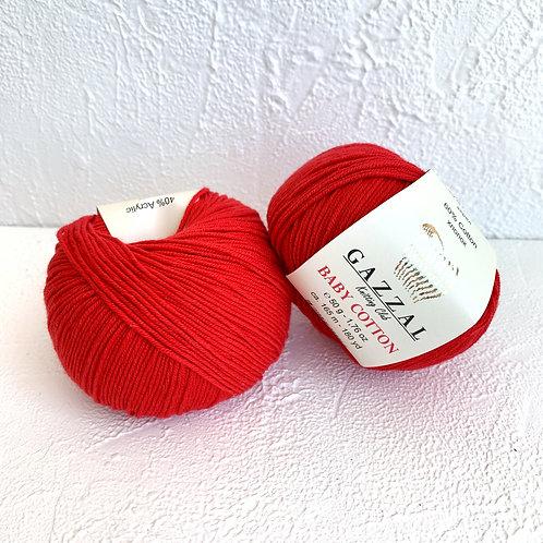 Gazzal Baby Cotton 3443 (алый)