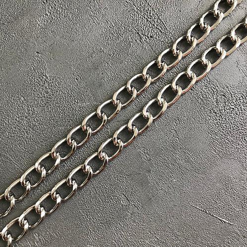 Цепь стальная серебро