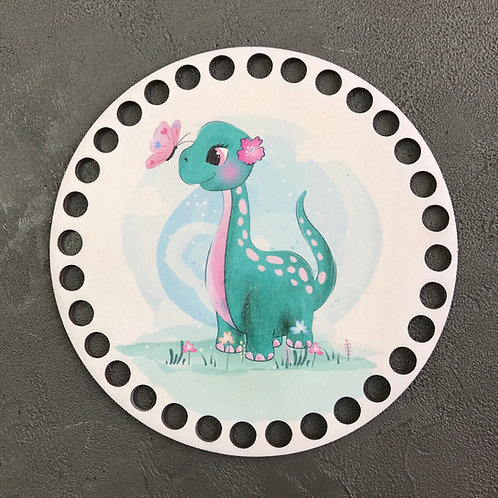 Крышка для корзины 15см  Динозавр маленький ножка