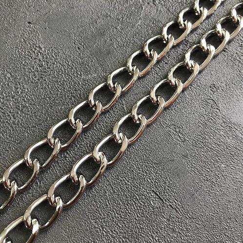 Цепь стальная большая серебро