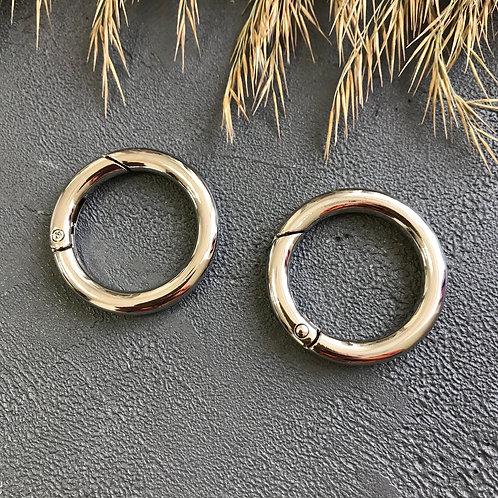 Кольцо-карабин серебро