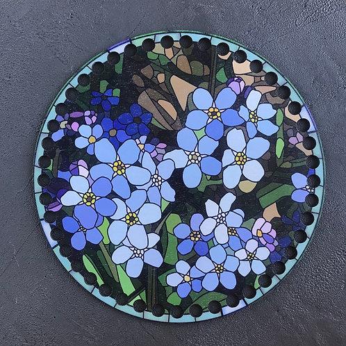 Крышка для корзины 20см Цветы мозаика