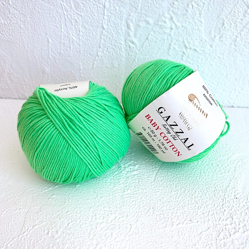 Gazzal Baby Cotton 3427 (зелёный)