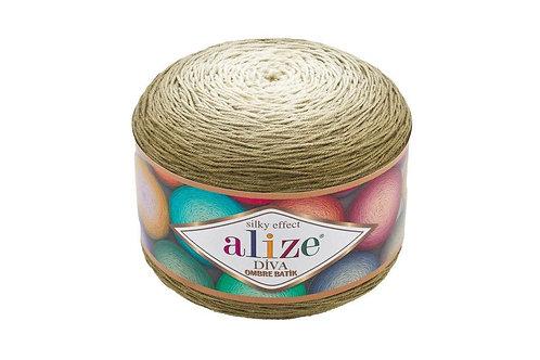 Alize DIVA OMBRE batik 7374 оливка