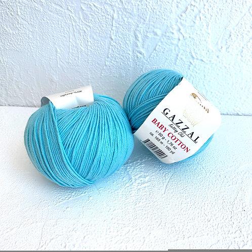 Gazzal Baby Cotton 3451 (светлая бирюза)