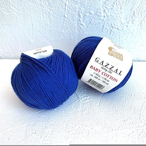 Gazzal Baby Cotton 3421 (насыщенный-синий)