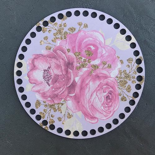Крышка для корзины 20см цветы 03